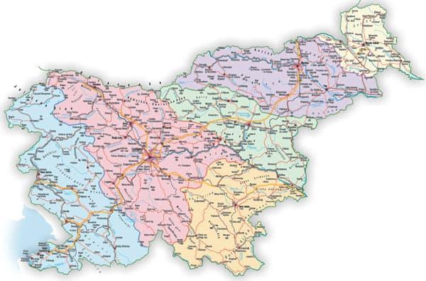 Zemljevid slovenskih škofij